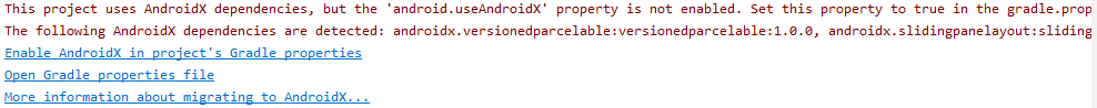 This project uses AndroidX dependencies, but the android useAndroidX property is not enabled