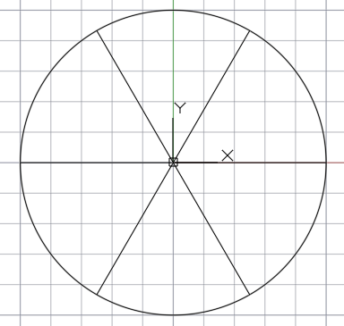 окружность разделённая на 6 равных частей
