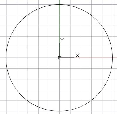 окружность с радиусом