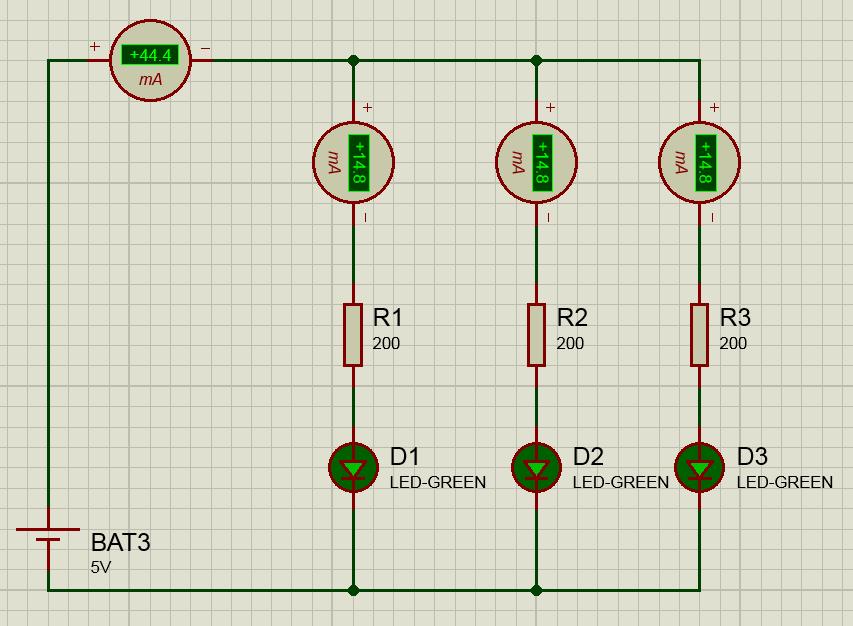 параллельное подключение светодиодов схема