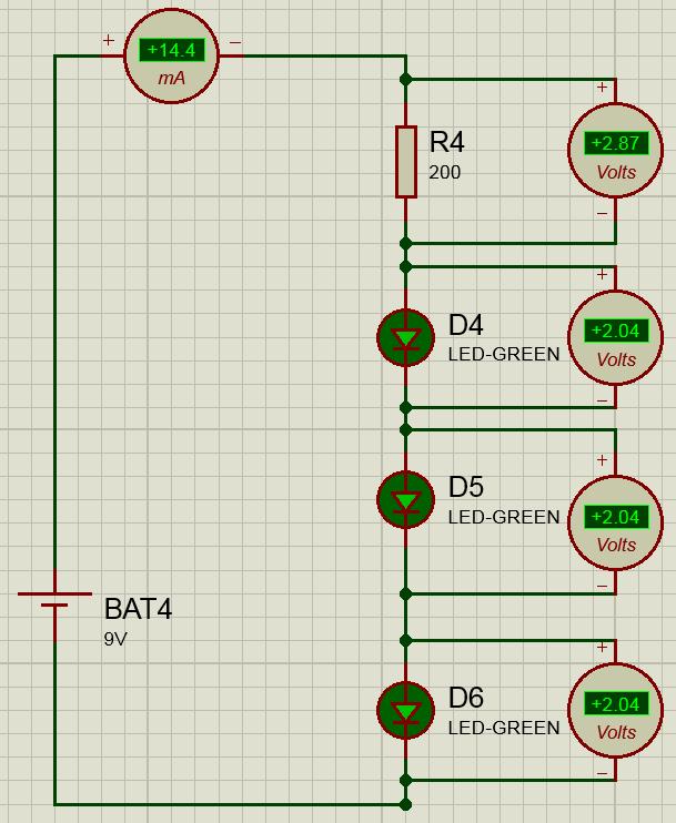 последовательное подключение светодиодов схема