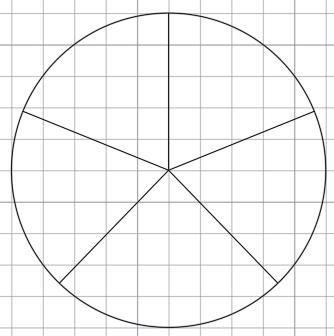 Деление окружности на 5 равных частей