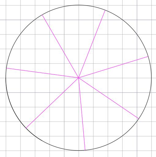 окружность поделённая на семь равных частей
