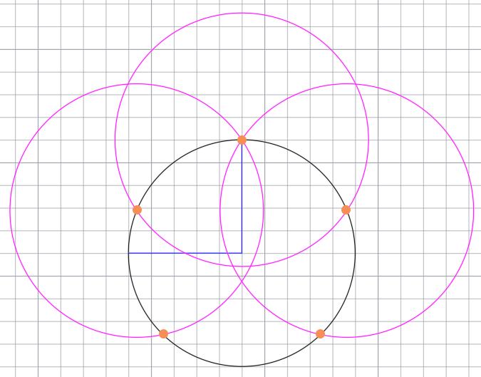 окружность с точками