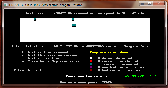 восстановление HDD в программеhdd Regenerator результат