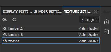 Texture set list