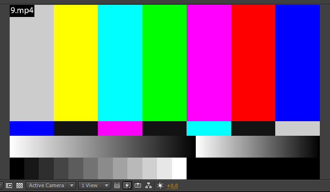 After Effects экран разноцветный