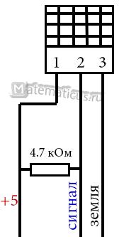 DHT11 датчик подключение резистора