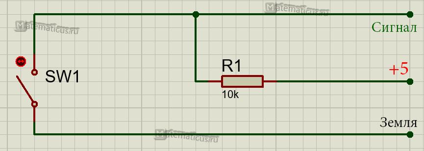Кнопка KY-004 схема подключения