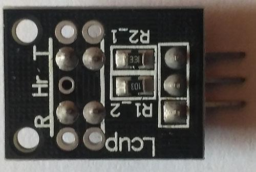 датчика KY-010 вид сзади