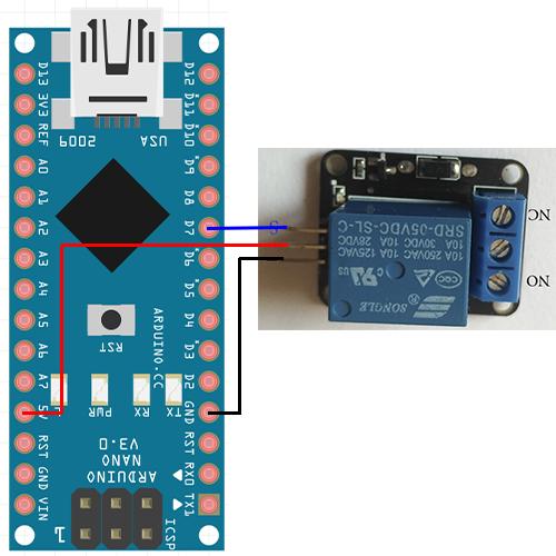 подключение реле к arduino nano