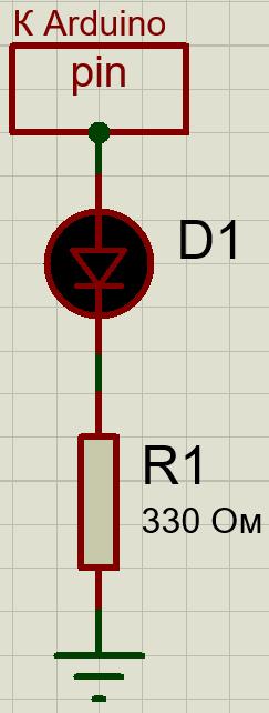 светодиод схема подключения arduino