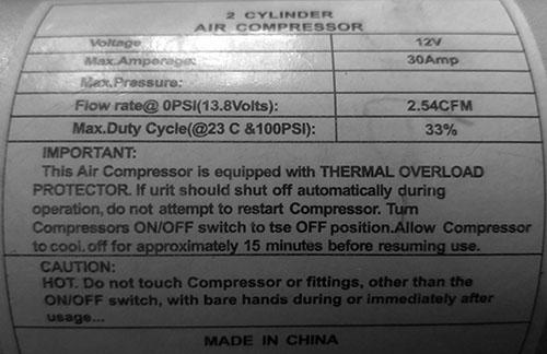 2 cylinder air compressor характеристики