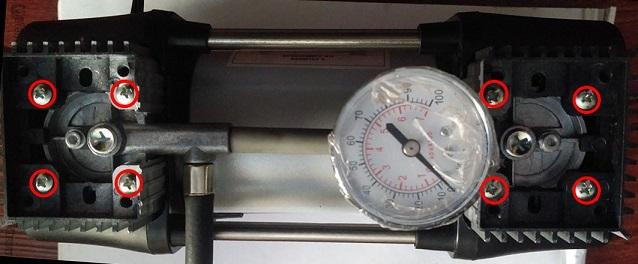 2 cylinder air compressor манометр