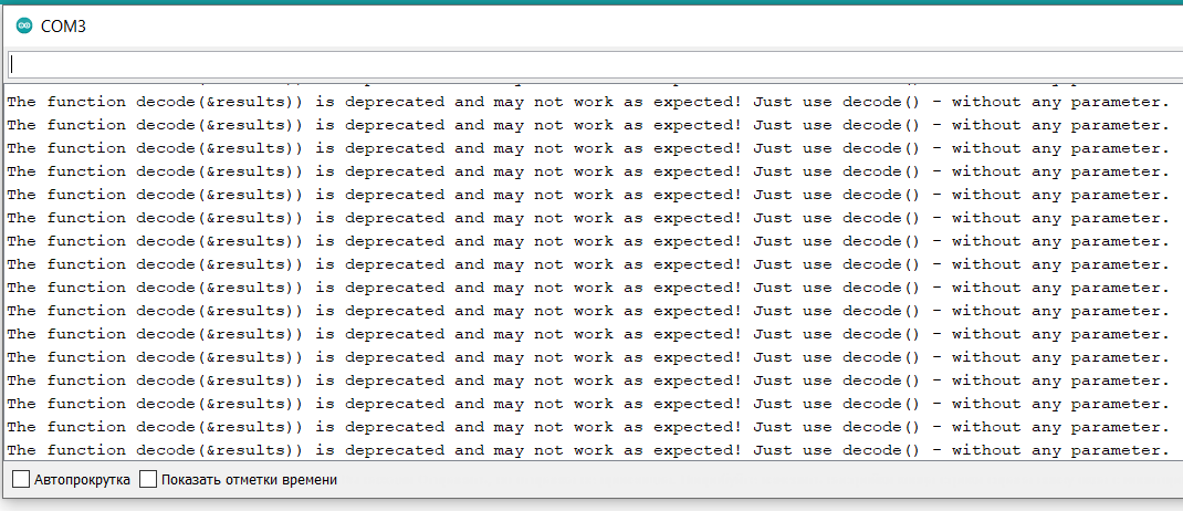 The function decode is deprecated and may not work as expected Just use decode - without any parameter