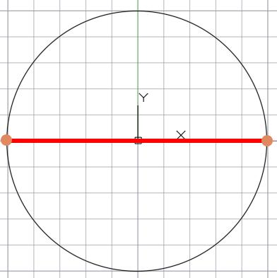 деление окружности на 2 равные части