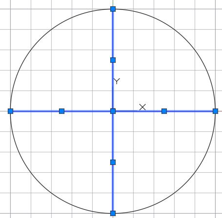 два диаметра в окружности