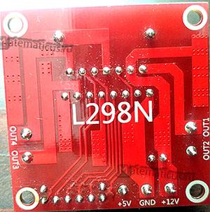 l298n микросхема вид сзади