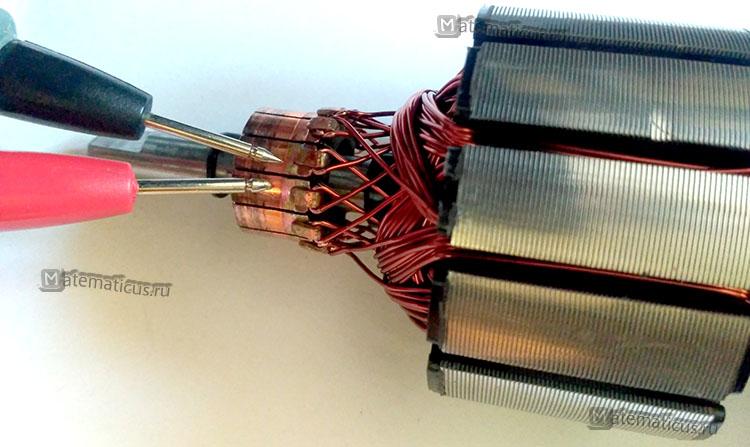 проверка ротора электродвигателя тестером