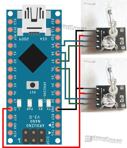 схема подключения KY-027 к Arduino
