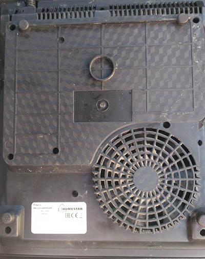 Плита индукционная HS-1101 вид сзади
