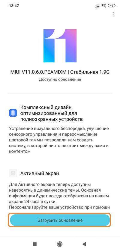 MIUI V11.0.6.0.PEAMIXM