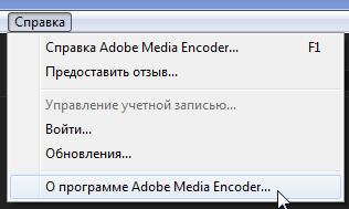 Справка Media Encoder