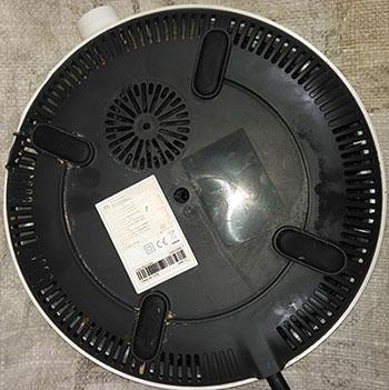 Xiaomi induction cooker dcl01cm вид сзади