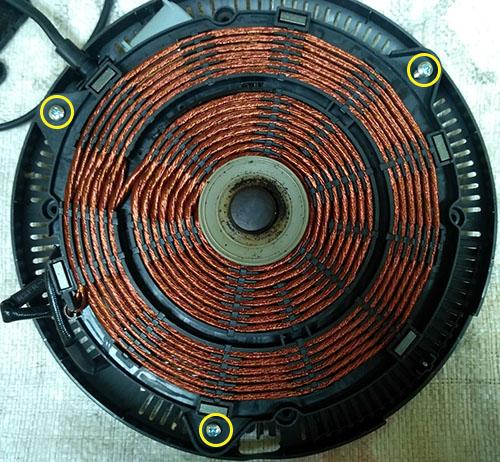 индукционная плита спираль
