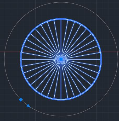 окружность на 36 частей